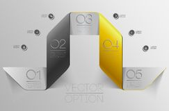 Design elements for options Royalty Free Stock Images