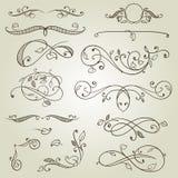 Design elements, ornate frames, monogram. Vector design elements, ornate frames, monogram Stock Photos