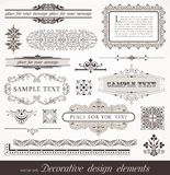 Design elements & page decor. Decorative design elements & page decor Stock Photography