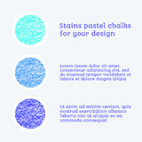 Design elements pastel chalks Stock Photography
