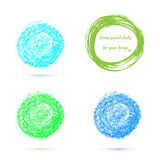 Design elements pastel chalks Stock Photos