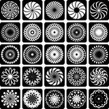 Design elements. Patterns set. Royalty Free Stock Photo