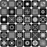 Design elements. Patterns set. Stock Photo