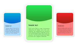 Design Elements with Place for Your Text in Three Color Variants Royalty Free Stock Image