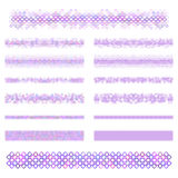 Design elements - purple divider line set Stock Photo