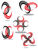 Design Elements in Red and Black Royalty Free Stock Photo