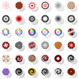 Design elements with rotation. Stock Photos