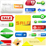 Design elements for sale Royalty Free Stock Images