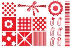 Design elements for scrapbook. Red design elements for scrapbook Stock Photo