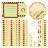 Design elements for scrapbook - beige Royalty Free Stock Photography