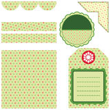 Design elements for scrapbook - green Royalty Free Stock Photography