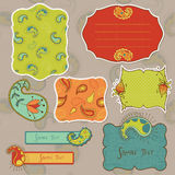 Design elements for scrapbook with paisley Royalty Free Stock Photos