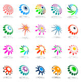 Design elements set. Abstract icons. Vector illustration Royalty Free Stock Image