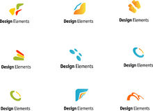Design elements set Royalty Free Stock Image