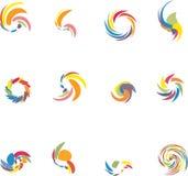 Design elements set. 12 design vector elements set stock illustration