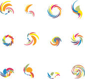 Design elements set. 12 design vector elements set Royalty Free Stock Photo