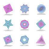 Design elements set. Abstract color icons. Royalty Free Stock Photos