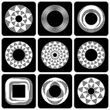 Design elements set. Abstract circle patterns. Royalty Free Stock Photo