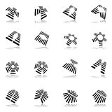 Design elements set. Abstract graphic icons. Stock Photography