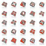 Design elements set. Abstract icons. Design elements set. 25 abstract icons. Vector art Royalty Free Stock Images