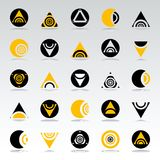 Design elements set. Abstract icons. Circle and triangle geometric shapes. Vector art Royalty Free Illustration