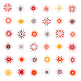Design elements set. 36 abstract icons. Vector art Stock Images
