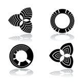Design elements set. Circle and triangle shapes. Design elements set. Vector art Royalty Free Illustration