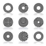 Design elements set. Lines patterns. Vector art Stock Illustration