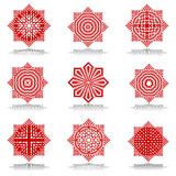Design elements set. Octagonal patterns. Vector art stock illustration