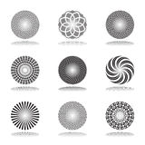 Design elements set.Patterns in circle shape. Abst Stock Photography