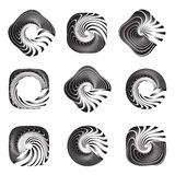 Design elements set. Twisting movement. Stock Photos