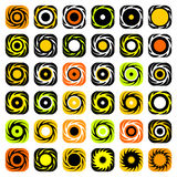 Design elements set. Whirl movement. Royalty Free Stock Photo