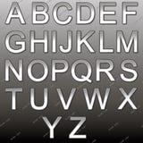 Design elements - silver 3D font. Stock Photography