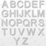 Design elements - silver wire 3D font. Set. Vector illustration Royalty Free Stock Photo