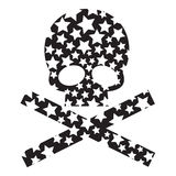 Design Elements  Skulls. Design Elements Funny Skulls  with stars Stock Photos
