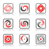 Design elements with spiral movement. Royalty Free Stock Photography