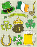 Design elements for  St Patricks Day Royalty Free Stock Image