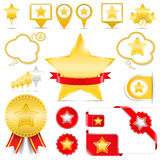 Design Elements with Stars. Set of design elements with stars Stock Photography
