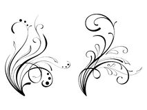 Design elements (swirls)-8 Royalty Free Stock Images