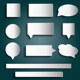 Design elements - tags, labels, buttons, stickers Royalty Free Stock Photography