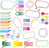 Design elements text box design Stock Photos