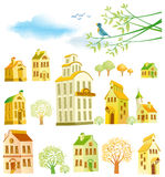 Design elements. Town. Stock Images