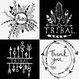 Design elements in tribal style Royalty Free Stock Image