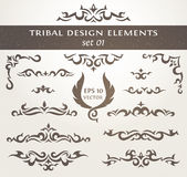 Design elements in tribal style. Royalty Free Stock Photo