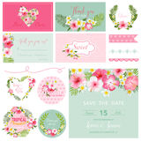 Design Elements - Tropical Flower Theme Royalty Free Stock Photography