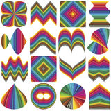Design elements two. Set of fancy inventive vector elements for business or decoration in full color range Stock Image