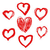 Design elements for Valentine`s day. Royalty Free Stock Photos