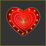 Design elements for Valentine s Day. Vector. A heart of red. Icon. Card in the frame. Black. Illustration. Design elements for Valentine s Day. Vector. A heart Royalty Free Stock Photo