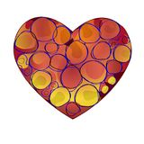 Design elements for Valentine s Day. Vector. Heart red. Icon. Card in the frame. Illustration. Fractal and abstraction. Design elements for Valentine s Day Royalty Free Stock Photography