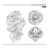 Design elements. Vector illustration with design elements royalty free illustration